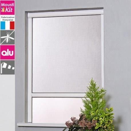 MADECO Moustiquaire Enrouleur PVC Recoupable pour Fen/être L.80cm x H.Jusqu/à 130cm