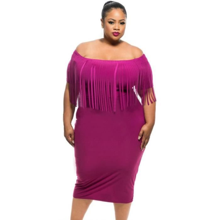 Robe de ceremonie grande taille rose