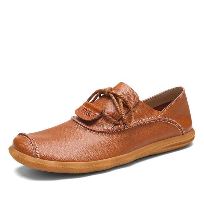 Chaussures sliop cuir confortable homme on FFYdqwr