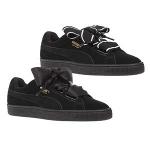 sneakers for cheap ce55b 84d12 ... BASKET PUMA Baskets Suede Heart Satin II Chaussures Femme ...