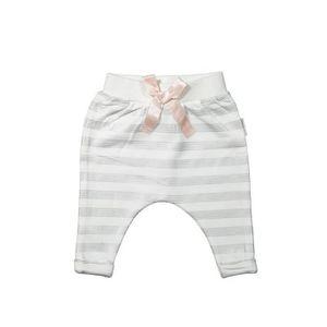 PANTALON DIRKJE Pantalon Jersey à Rayures Gris Argenté Bébé
