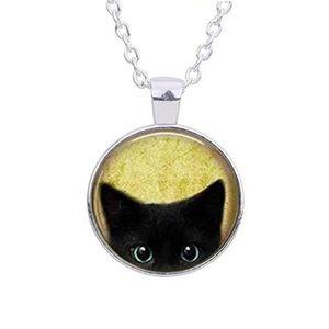 SAUTOIR ET COLLIER Collier de chat noir - Peeking Black Cat Pendentif
