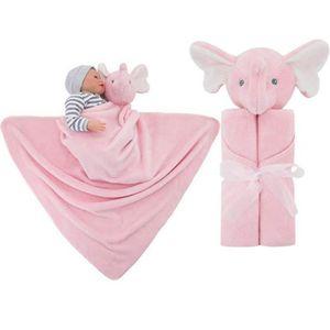 COUVERTURE - PLAID BÉBÉ Couverture de bébé ultra douce avec capuche et ani