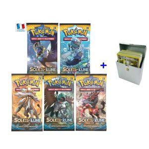 CARTE A COLLECTIONNER Carte Pokemon - Lot de 5 boosters SOLEIL ET LUNE e