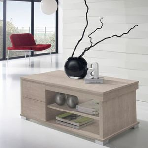 TABLE BASSE Table basse chêne clair relevable - NESE  - Taille