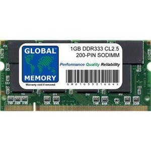 MÉMOIRE RAM 1Go DDR 333MHz PC2700 200-PIN SODIMM MÉMOIRE POUR