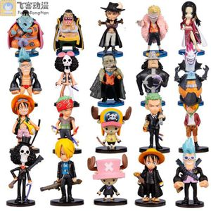 FIGURINE - PERSONNAGE Lot de 20 Figurines One Piece Luffy Zoro 6-10cm