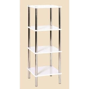 etagere en tube d acier chrome achat vente etagere en tube d acier chrome pas cher cdiscount. Black Bedroom Furniture Sets. Home Design Ideas