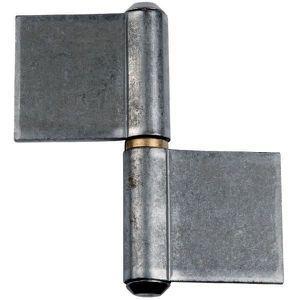 CHARNIÈRE - PAUMELLE Paumelle de grille droite - 82,8 x 80 mm - Lames r