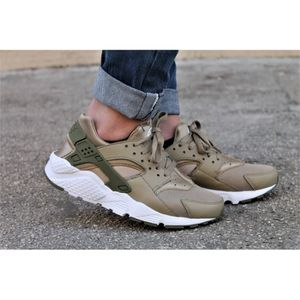 BASKET Baskets Nike Huarache Run kaki. 654275-200.