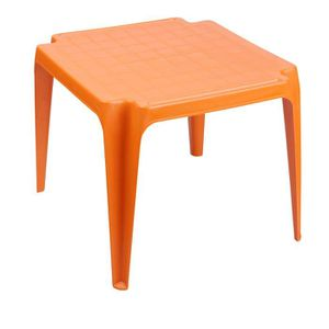 Table de jardin en plastique orange - Achat / Vente Table de jardin ...