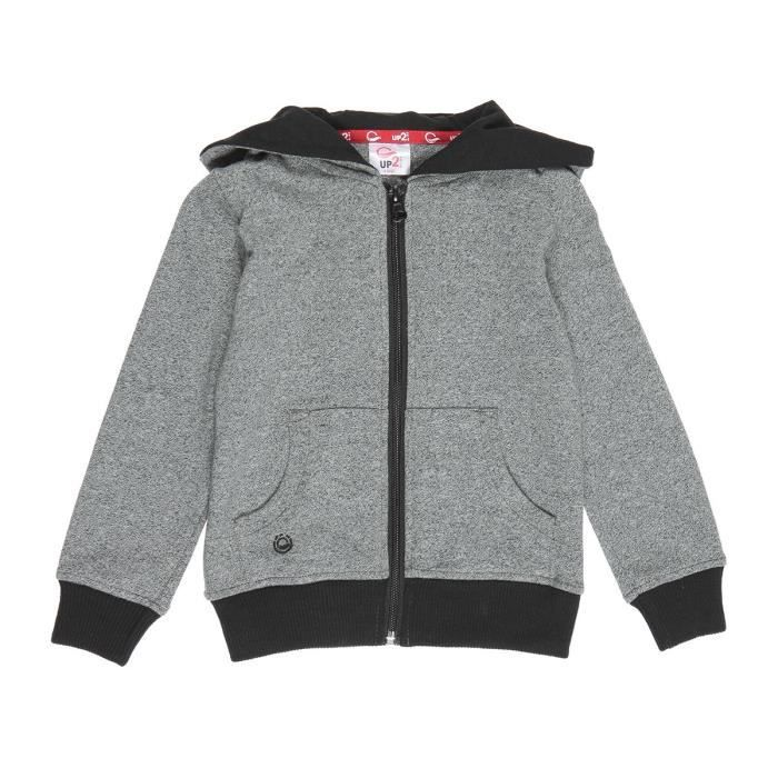 UP2GLIDE Sweatshirt Basic - Enfant fille - Gris anthracite