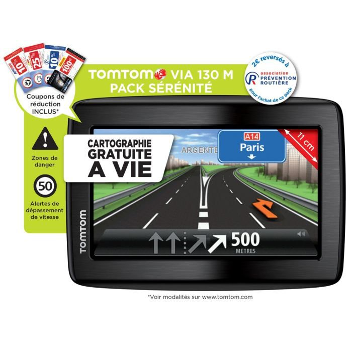 gps tomtom via 130 m europe pack s r nit achat vente gps auto tomtom via 130 m europe 45. Black Bedroom Furniture Sets. Home Design Ideas