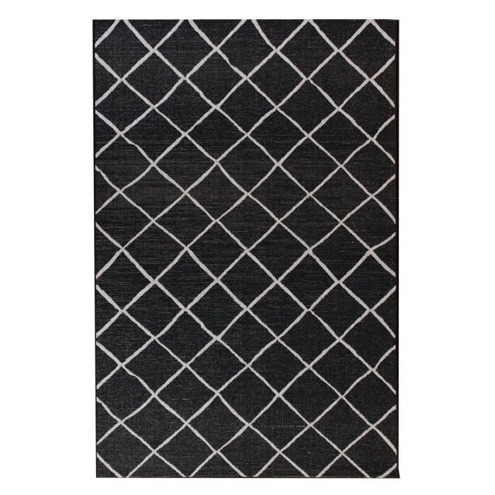 tapis de salon gris 160x230 cm floorluxe moncornerdeco. Black Bedroom Furniture Sets. Home Design Ideas