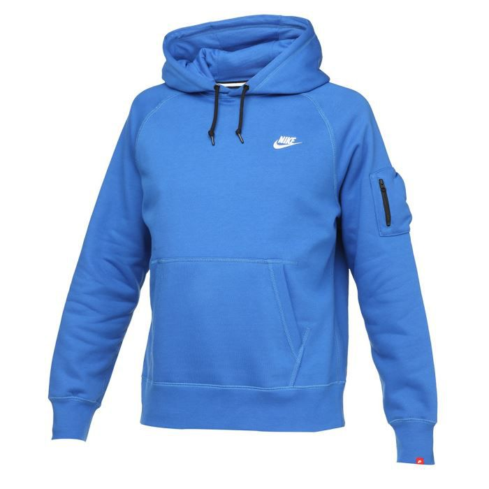 nike sweat capuche homme bleu achat vente sweatshirt cdiscount. Black Bedroom Furniture Sets. Home Design Ideas