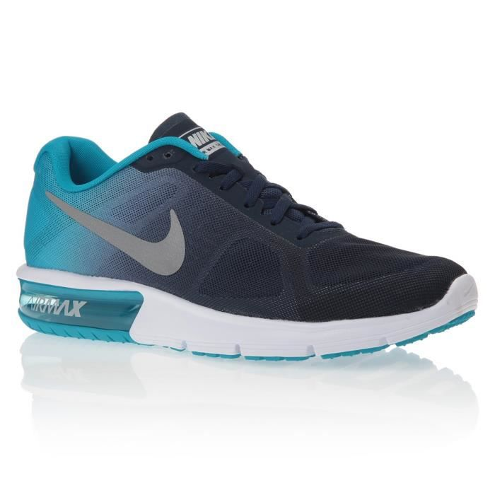 nike baskets air max sequent chaussures homme homme bleu et gris achat vente nike baskets. Black Bedroom Furniture Sets. Home Design Ideas