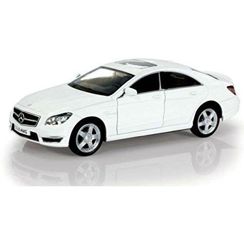 Voiture Electrique E6RMV Mercedes Benz Cls 63 Amg C218 White 1-36 Diecast Model Car