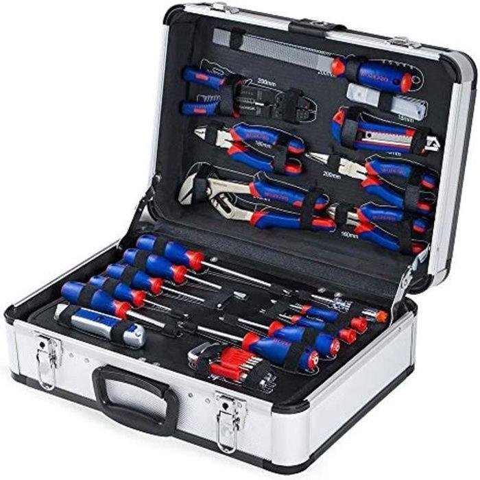 WORKPRO Caisse à Outils Complete Professionnelle avec Mallette en Aluminium, Boite à Outils Complete pour Réparation Dommestique ou