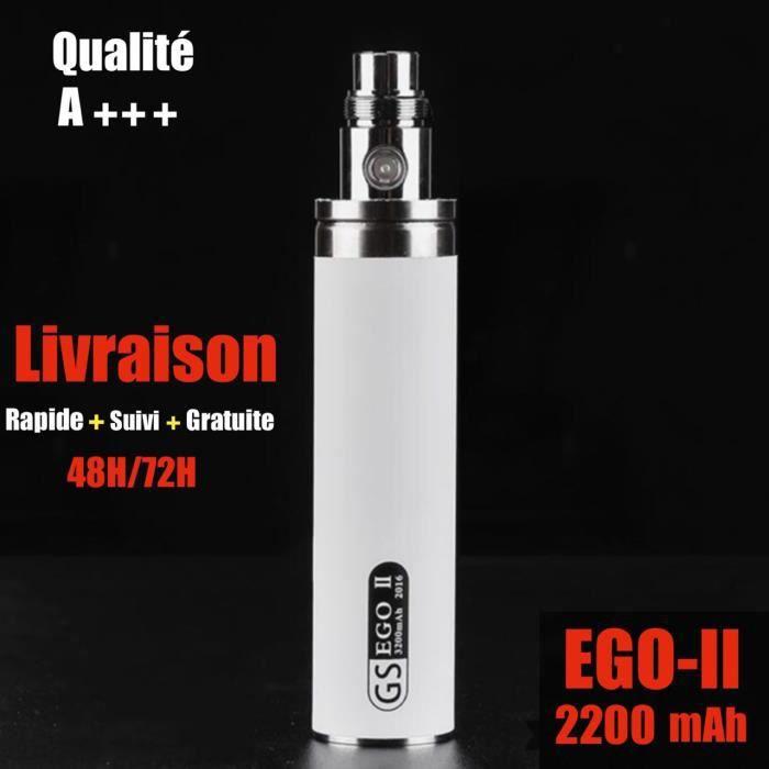 Batterie eGo 2200 mAH Cigarette électronique ego t batterie 2200 mah BLANC