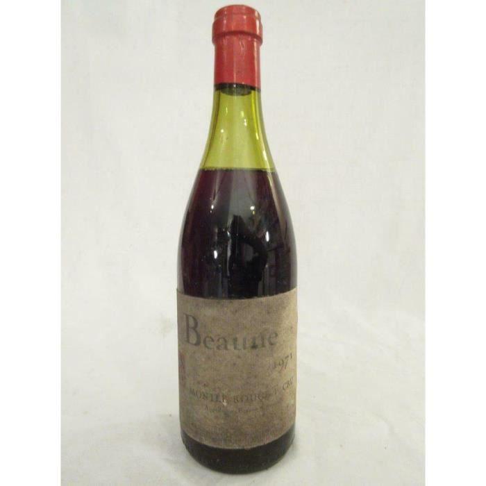 beaune savour club (à peine lisible) premier cru montée rouge rouge 1971 - bourgogne