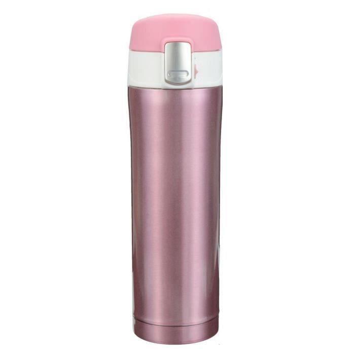 500ml Thermos de the, Mug isotherme d'acier inoxydable, tasse cafe, bouteille d'eau 12 heures pourpre A50666