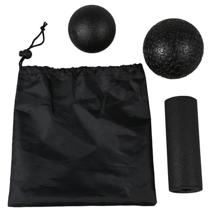 Ensemble de massage Yoga-Produkte fourrure die Faszien à verschiedenen 1 balle de crosse + 1 boule de Fascia + 1 colonne de Yoga