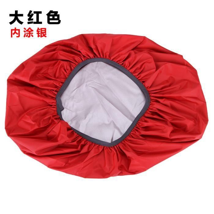 Sac Housse De Pluie 35-70L Protable Étanche Anti-larme Anti-UV Anti-UV Couverture De Sac À Dos pour Camping rouge 70 litres (XL)