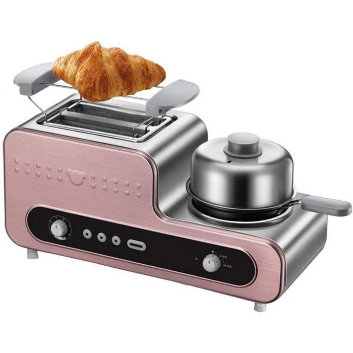 MxZas Machine de Petit-déjeuner Grille-Pain - Trois dans Une Machine à Omelette à Bouillie à la Coque Toast, en Acier Inoxydable de