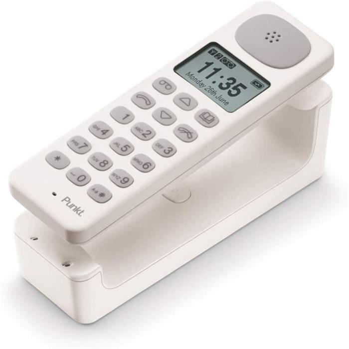 TELEPHONE FIXE DP01 Teacuteleacutephone Fixe sans Fil Design DECT Analogique avec Reacutepondeur Inteacutegreacute Mains Libres256