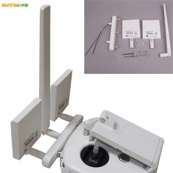 Drones,DJI Phantom 3 4K télécommande WIFI panneau antenne 7dBi amplificateur de Signal amélioré longue portée antenne de
