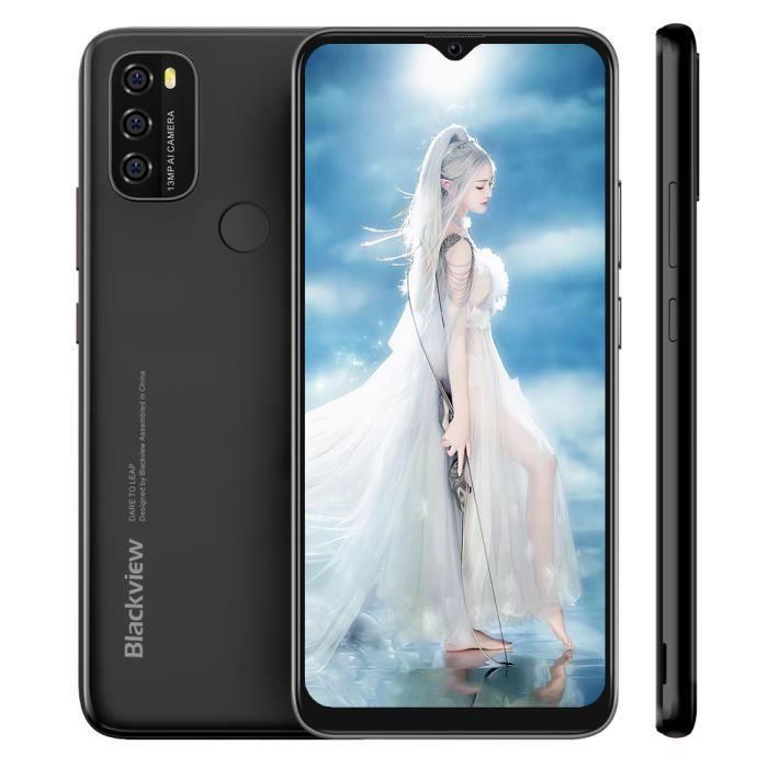 Blackview Smartphone 4G A60 Pro 6.1- Écran 3Go + 16Go Empreintes digitales Android 9.0 Téléphone portable - Noir