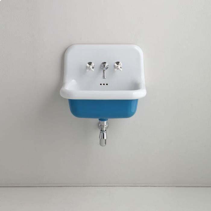 Lavabo en céramique émaillée 60 cm True Colors - Bleu