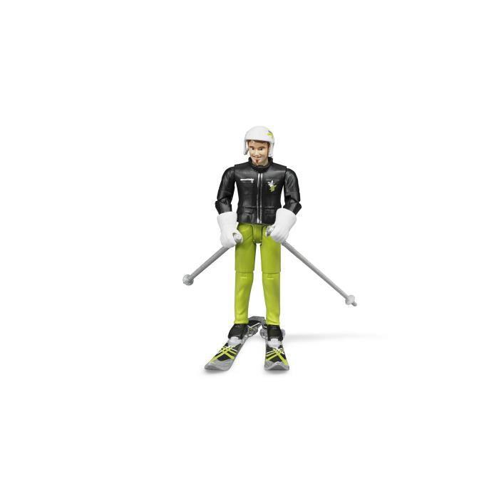 BRUDER - Skieur avec accessoires - 10,7 cm