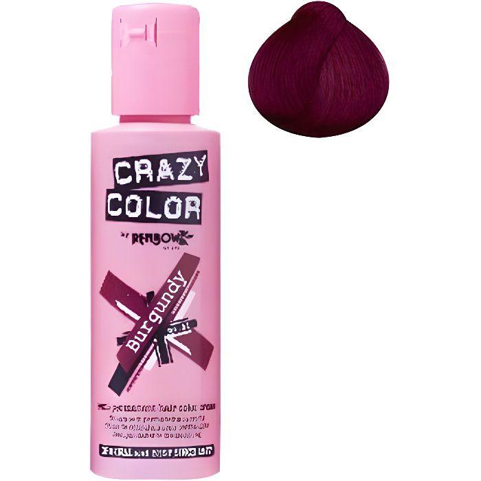 Coloration cheveux semi-permanente CRAZY COLOR BURGUNDYPour un look FUN et des cheveux aux couleurs vives et originales !Les