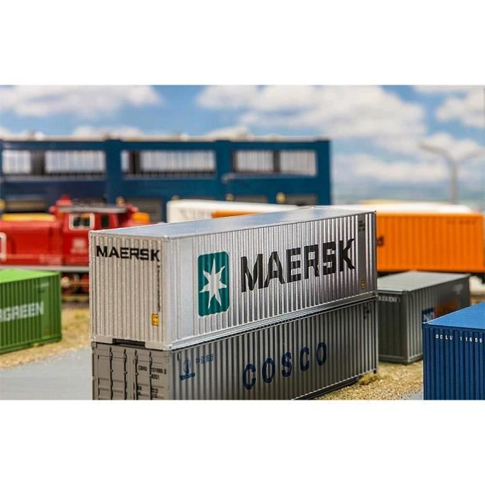 Faller ?40 Hi Cube conteneurs Maersk, Accessoires pour la Modèle, Modèle ferroviaire de la Construction - FA 180840