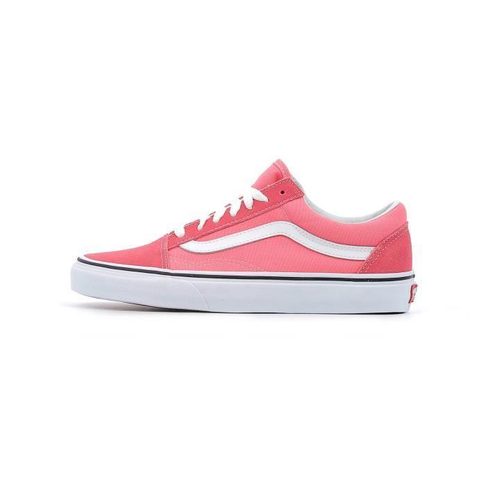 Baskets basses Vans Old Skool coloris Strawberry Pink - True White