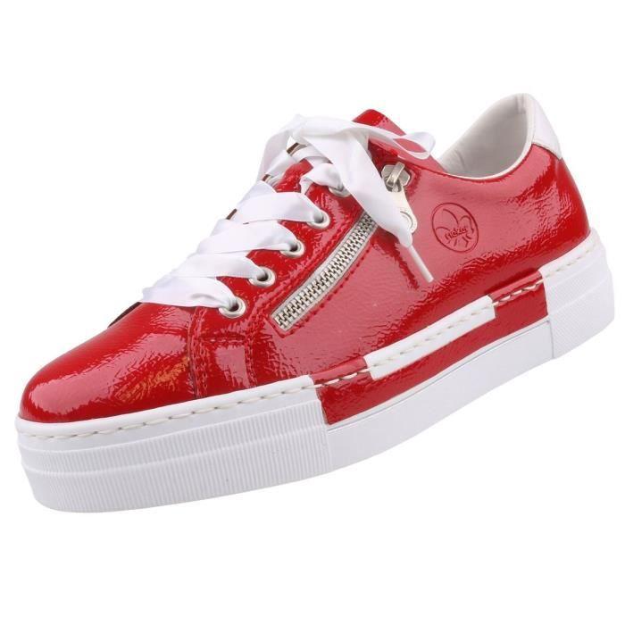 Sneaker Rouge Rieker Femme