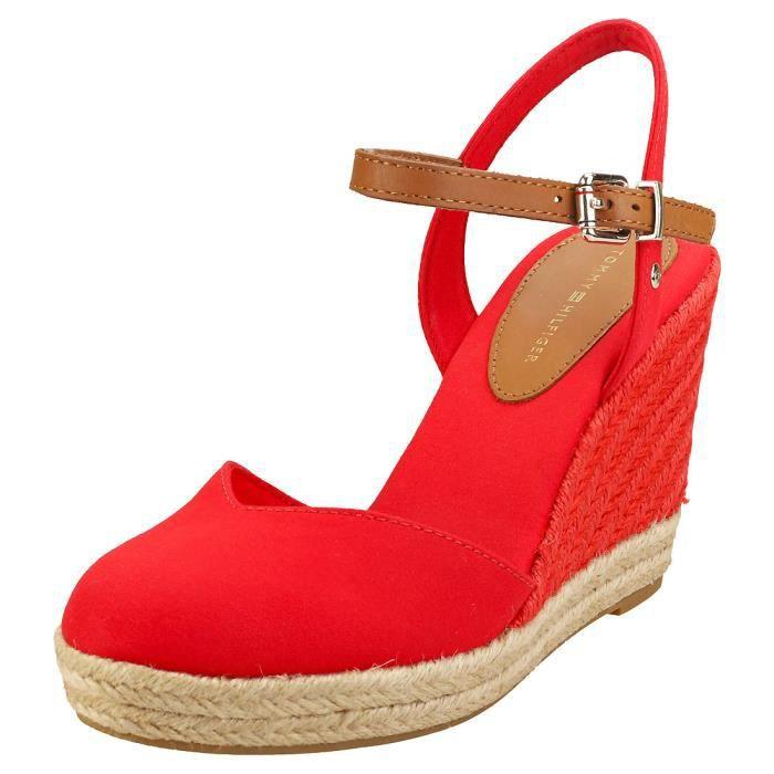 Sandales - Tommy Hilfiger - Basic Closed Toe High - Femme - Rouge