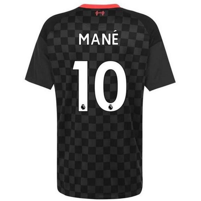Nouveau Maillot Homme Nike FC Liverpool Third Saison 2020-2021 Flocage Officiel Numéro 10 Mané