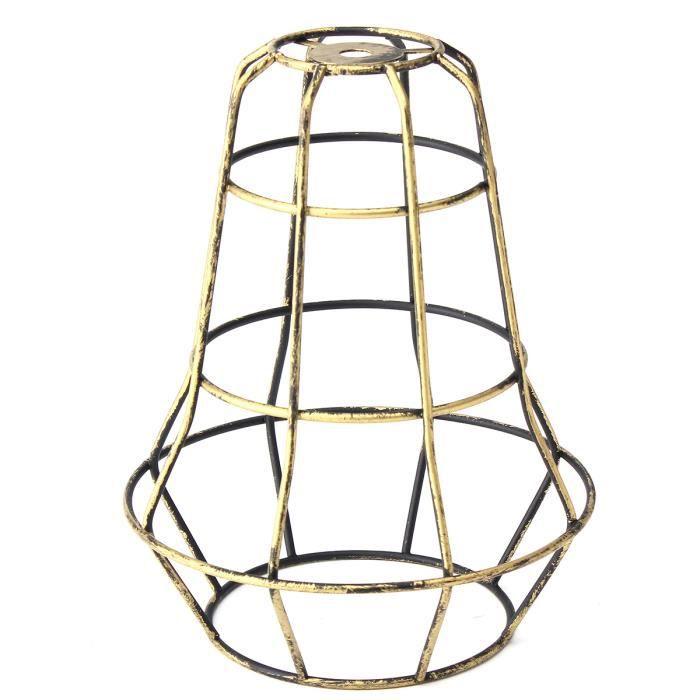 U Abat-jour de Lustre Lampe à Suspension Plafonnier en métal vintage rétro 160*200mm Patine verte