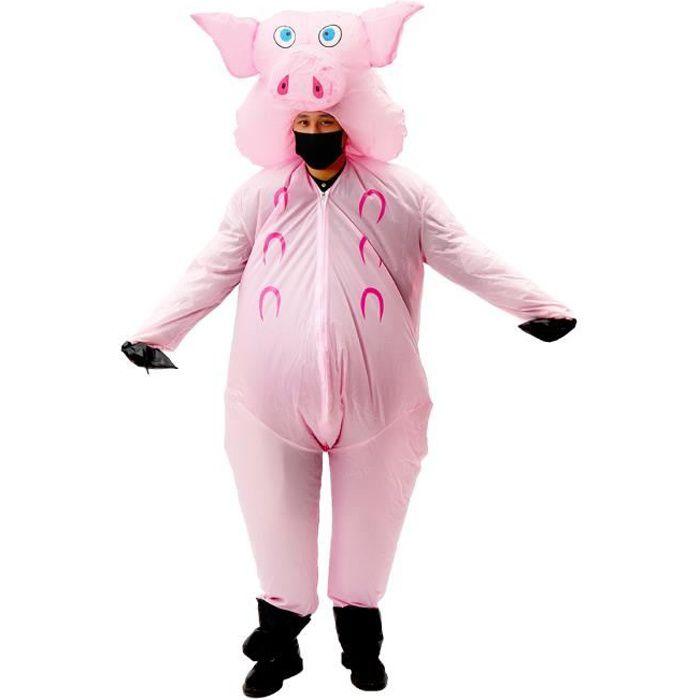 Cochon Costume Gonflable Déguisement Halloween Fête Party Outfit Unisexe Fête Costumé