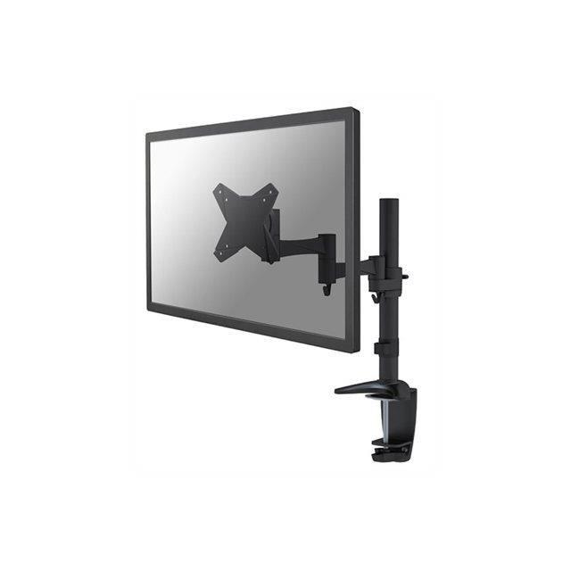 NEWSTAR Kit de montage Écran LCD - bras articulé - Fixation par pince pour bureau - Inclinaison et rotation - Noir
