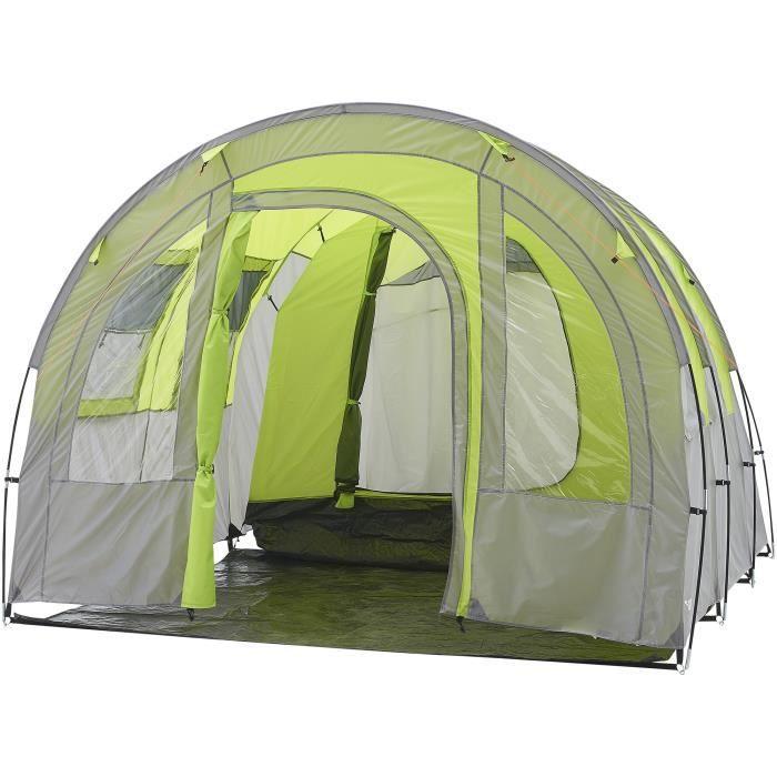 Tente de camping tunnel 4 places SURPASS SURPTENT402 Vert et Gris