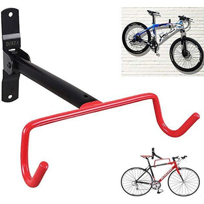 Porte-vélo Vélo support mural Crochets Cintre support stockage de montage à Fixer au Mur Pliable économie d'espace