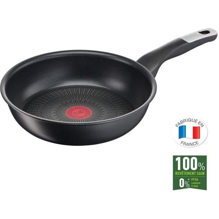 TEFAL G2550402 Poêle 24 cm UNLIMITED Tous feux dont induction - Fabrication française - Noir