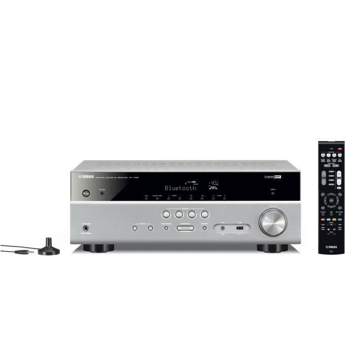YAMAHA RX-V385 Silver Ampli-tuner Home-Cinéma 5.1 - 5 x 70 W - Bluetooth - 4 X HDMI - YPAO