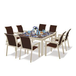 Table carree 8 personnes jardin for Table jardin 8 personnes