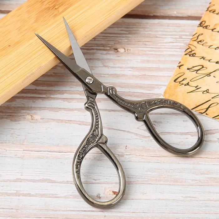 1 ciseaux courbe 10cm outil DIY loisirs créatifs couture mercerie