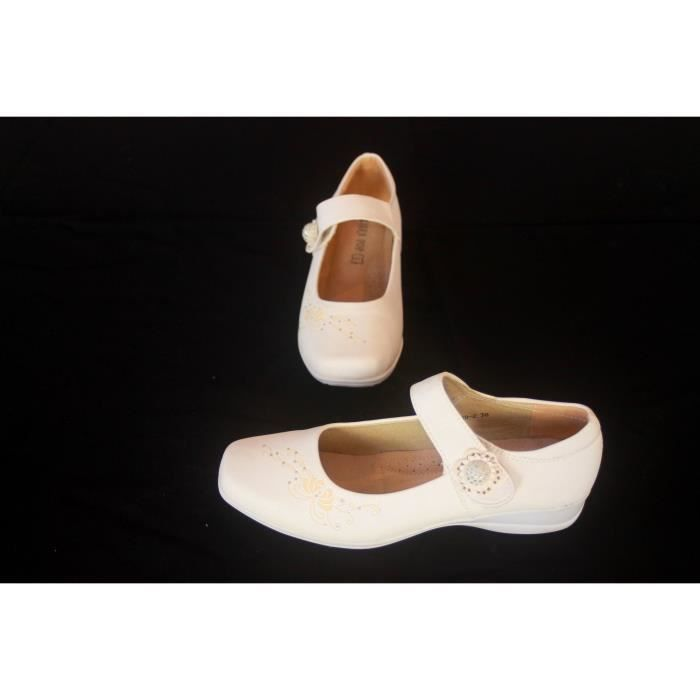 Chaussures femme blanche Confort Taille 38