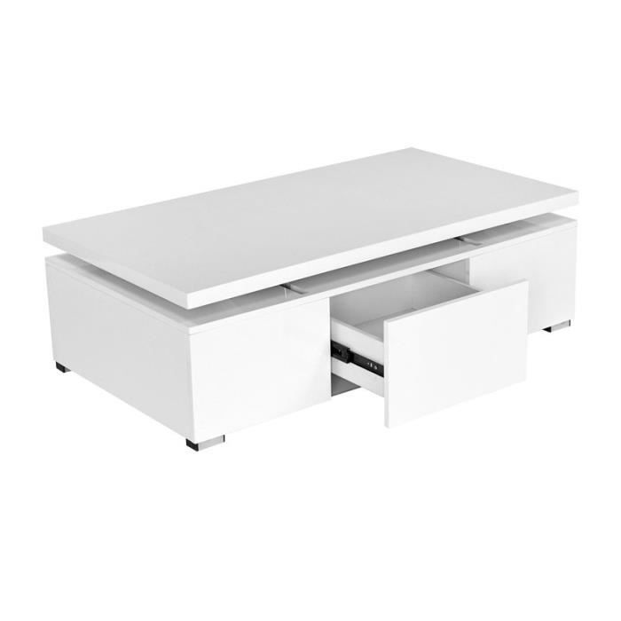 Table basse laqu blanche plateaux relevable desig achat vente table bass - Table basse blanche but ...